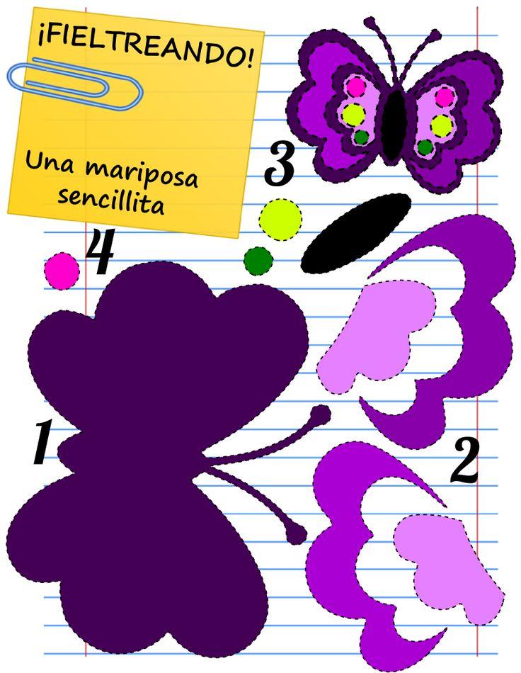 Sabemos que las mariposas gustan mucho, por eso hemos elegido esta. ¿A coser? Muchas más plantillas en Mamá Eva. Ven a vernos.