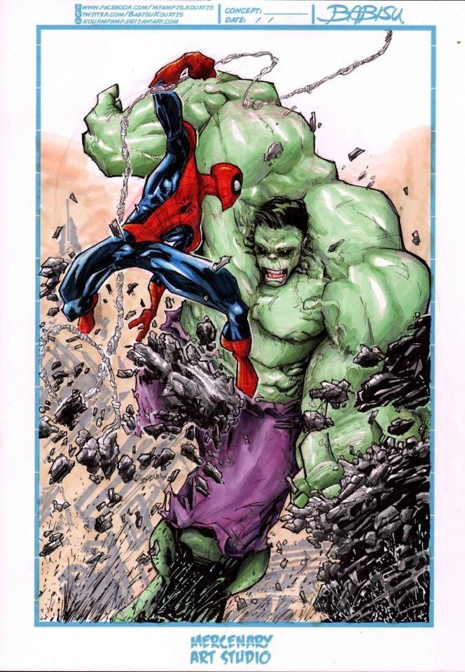 1000+ images about Hulk vs. spiderman on Pinterest