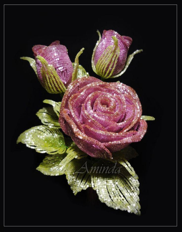 Роза 01.2015 | biser.info - всё о бисере и бисерном творчестве