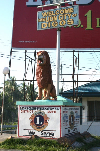 As you enter Digos City from the north, you will see this sign, welcoming you to the City. Digos is the halfway point between Davao City and General Santos City.