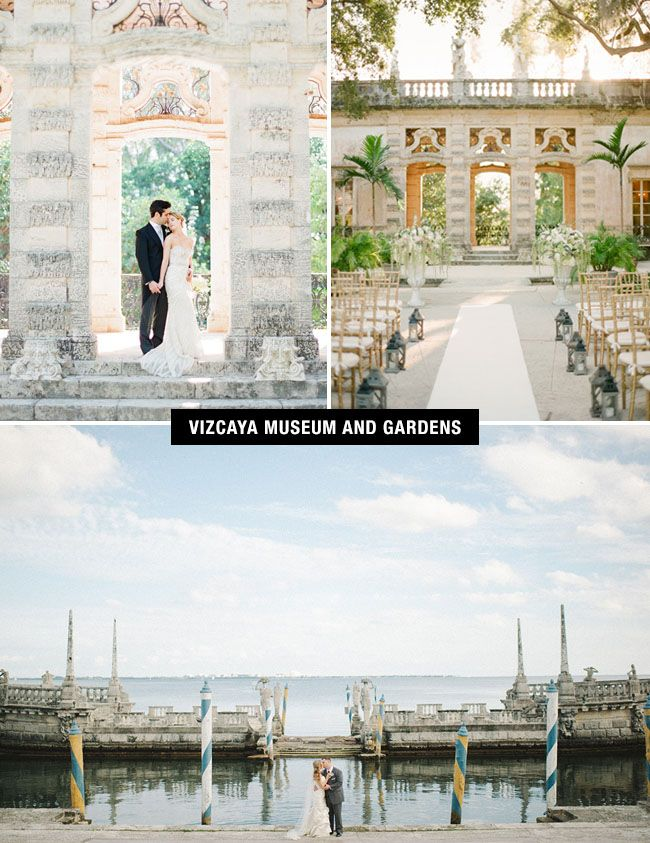 The Vizcaya Museum and Gardens in Miami gives you a little piece of Europe for your wedding.