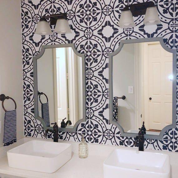 Self Adhesive Vinyl Temporary Removable Wallpaper Wall Decal Animal Spot Pattern Print 076 Small Bathroom Decor Bathroom Inspiration Bathroom Design