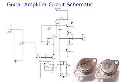 Guitar power amplifier circuit schematic