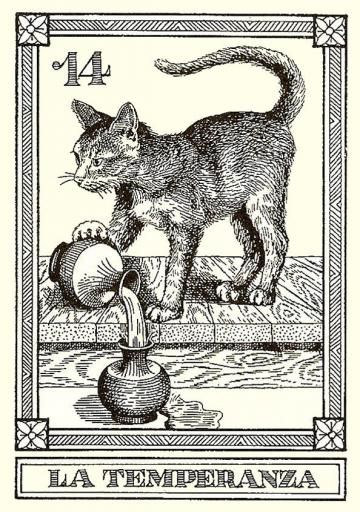 TEMPERANCE Osvaldo Menegazzi tarot card