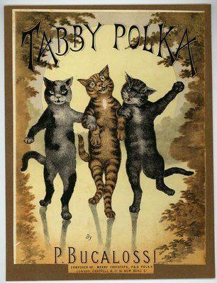 Vintage Victorian Sheet Music, 1880s- Tabby Polka