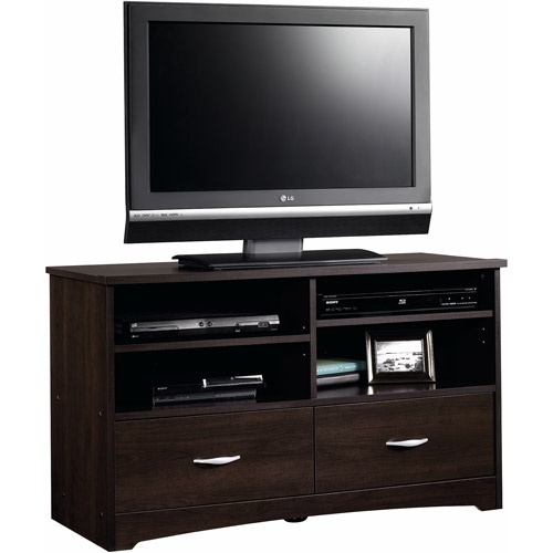 Sauder Beginnings Cinnamon Cherry TV Stand for TVs up to 46""