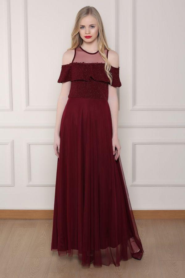 Bordo Abiye Elbise 0014 Kapida Odemeli Ucuz Bayan Giyim Online Alisveris Sitesi Modivera Com The Dress Elbise Giyim