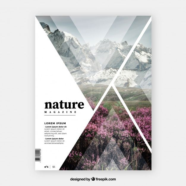 Download Nature Magazine Cover Template For Free Magazine Cover Template Magazine Layout Design Magazine Design