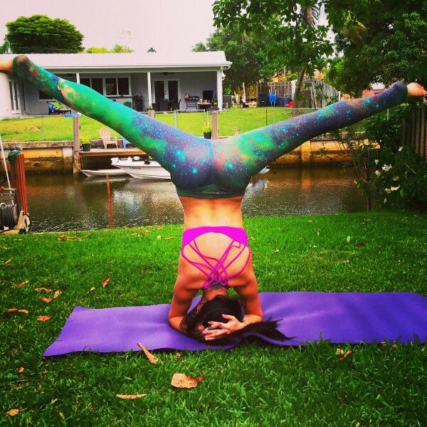 Wide legged Headstand. Barkan Yoga Fort Lauderdale!