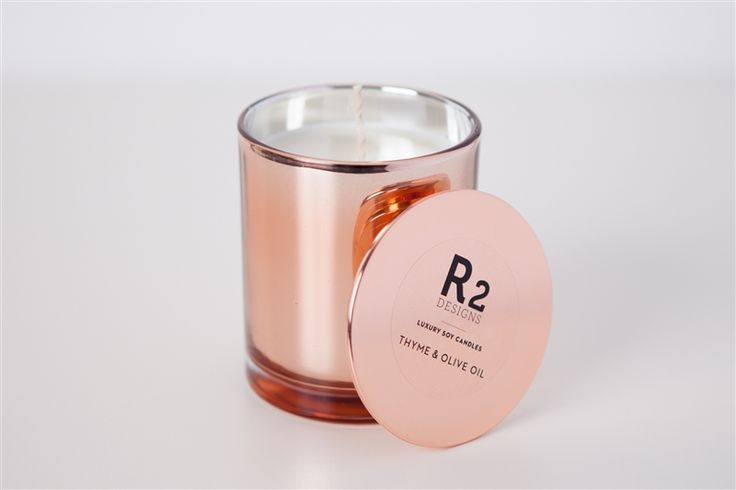 R2 Designs create soy candle in amber glass jars, to copper & marble without the nasty chemicals. #candles #chemicalfree #lifeinstyle