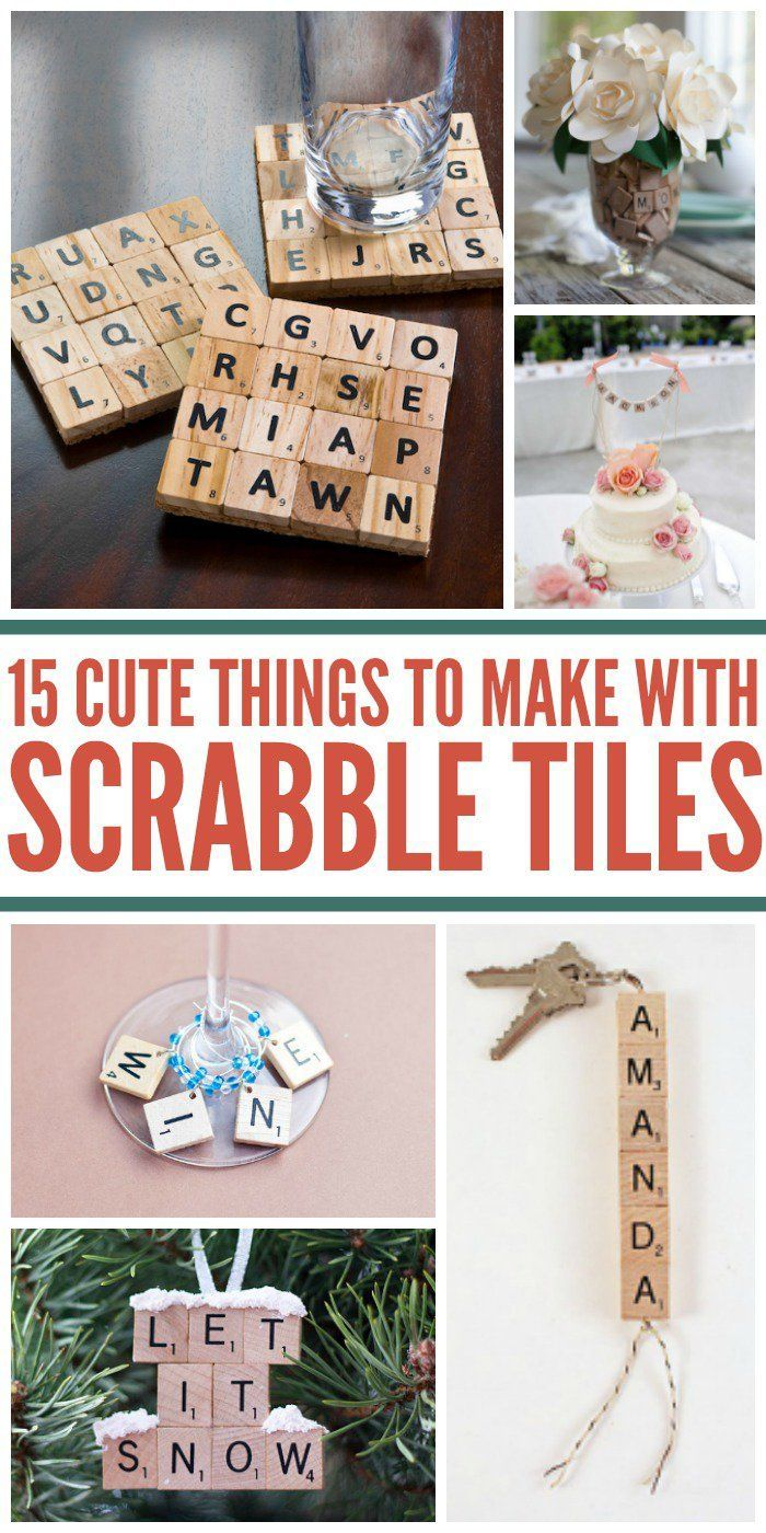 Scrabble tiles are just for the game anymore! Check out these cute diy ideas, crafts and projects for all those random letters!