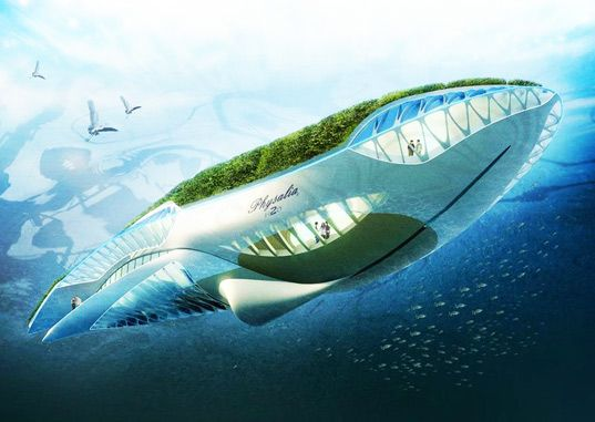 """Physalia"" by Vincent Callebaut - a floating, self-sufficient ecosystem designed to purify water as it floats down a river."