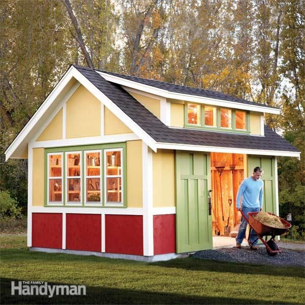 Garden Sheds Ideas storage secrets for your garden shed Family Handyman Shed Plans How To Build A Shed 2011 Garden Shed