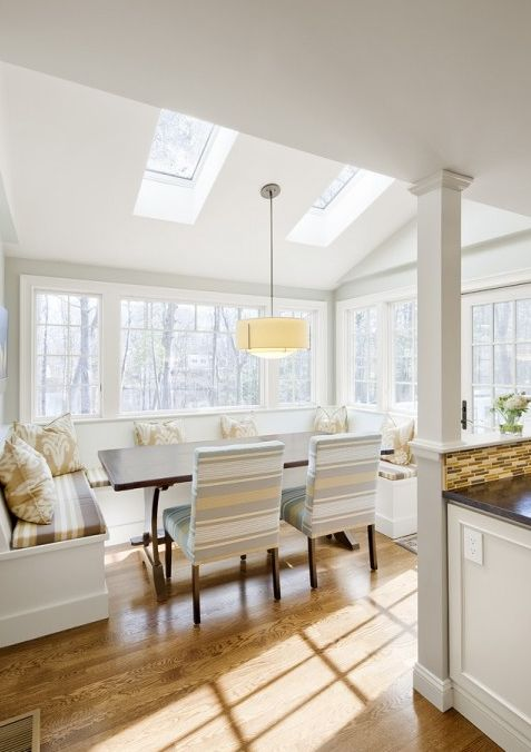 Use of velux windows within the extension