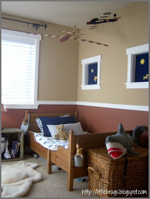 Little Brags: Little Boys Bedroom and an old crate