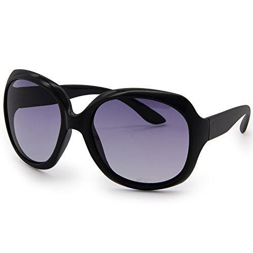 6461c7504c AMZTM Classic Simple Oversized Polarized Women Sunglasses All-match Large  Frame Eyewear (Black