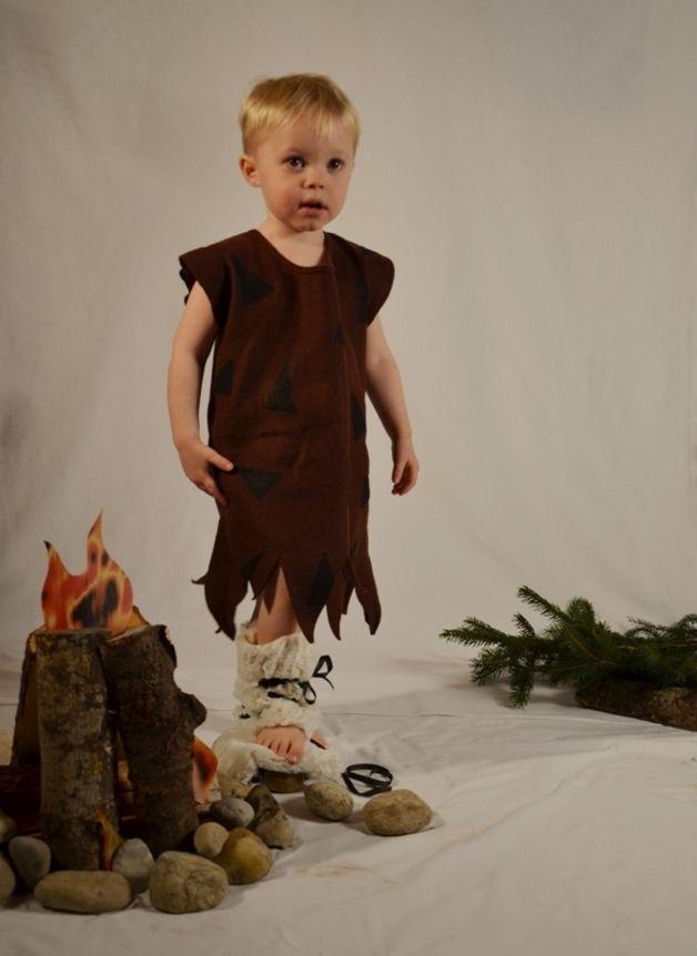 Steinzeitkostüm Neandertaler für Kinder / stone age costume neanderthal for kids by Puccino via DaWanda.com