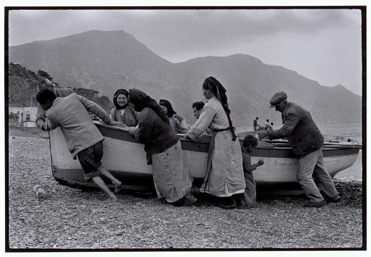 "Constantine Manos. GREECE. Karpathos. 1964. Beaching a fishing boat. ""A Greek Portfolio"" p.38. © Costa Manos/Magnum Photos"