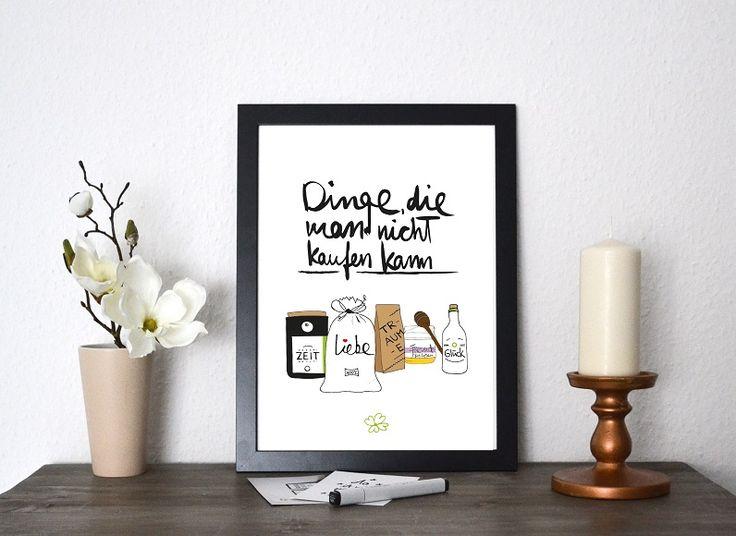 kunstdruck dinge die man nicht kaufen kann geschenk ideen wolle kaufen drucken und basteln. Black Bedroom Furniture Sets. Home Design Ideas