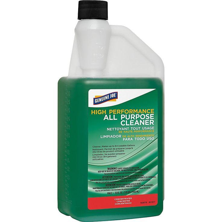 Genuine Joe All Purpose Cleaner Concentrate 0 25 Gal 32 Fl Oz 1 Each Green All Purpose Cleaners Cleaning Chemicals Mirror Vinyl