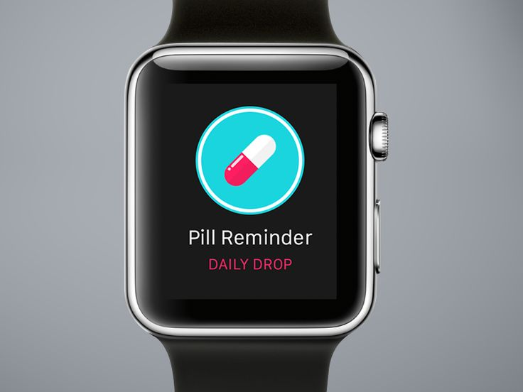Pill reminder right from your Apple Watch.