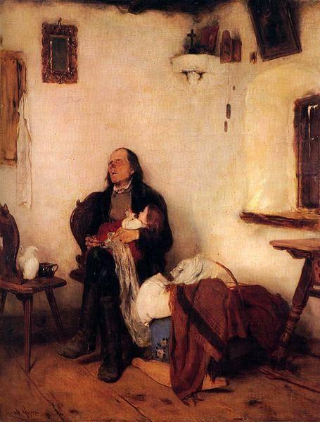 Gyzis Nikolaos (Greek, 1842 - 1901): Old Man Sleeping