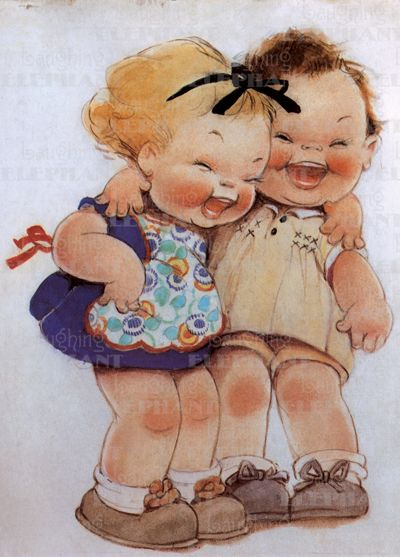 Birthday Friendship Fun Girlhood Illustrator: Mabel Lucie Attwell Imprint: Laughing Elephant Joy Smiles & Laughter'