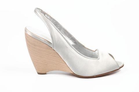 Sebastian Milano ladies espadrille wedge sandal S2561X VAR X RASO SETA ARGENTO