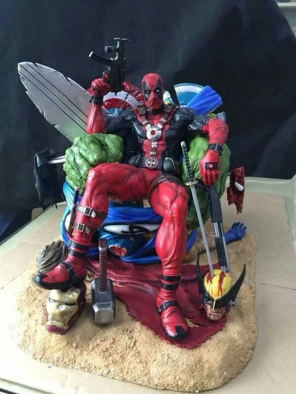 New Deadpool on throne statue on the way! XIONART KILLIN ...
