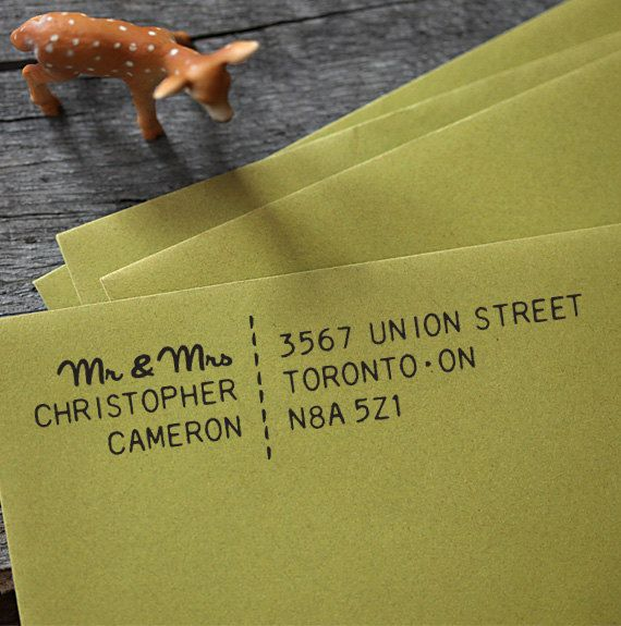 Self Inking Stamp  Address Rubber Stamp  wedding by foryoo on Etsy, $29.95