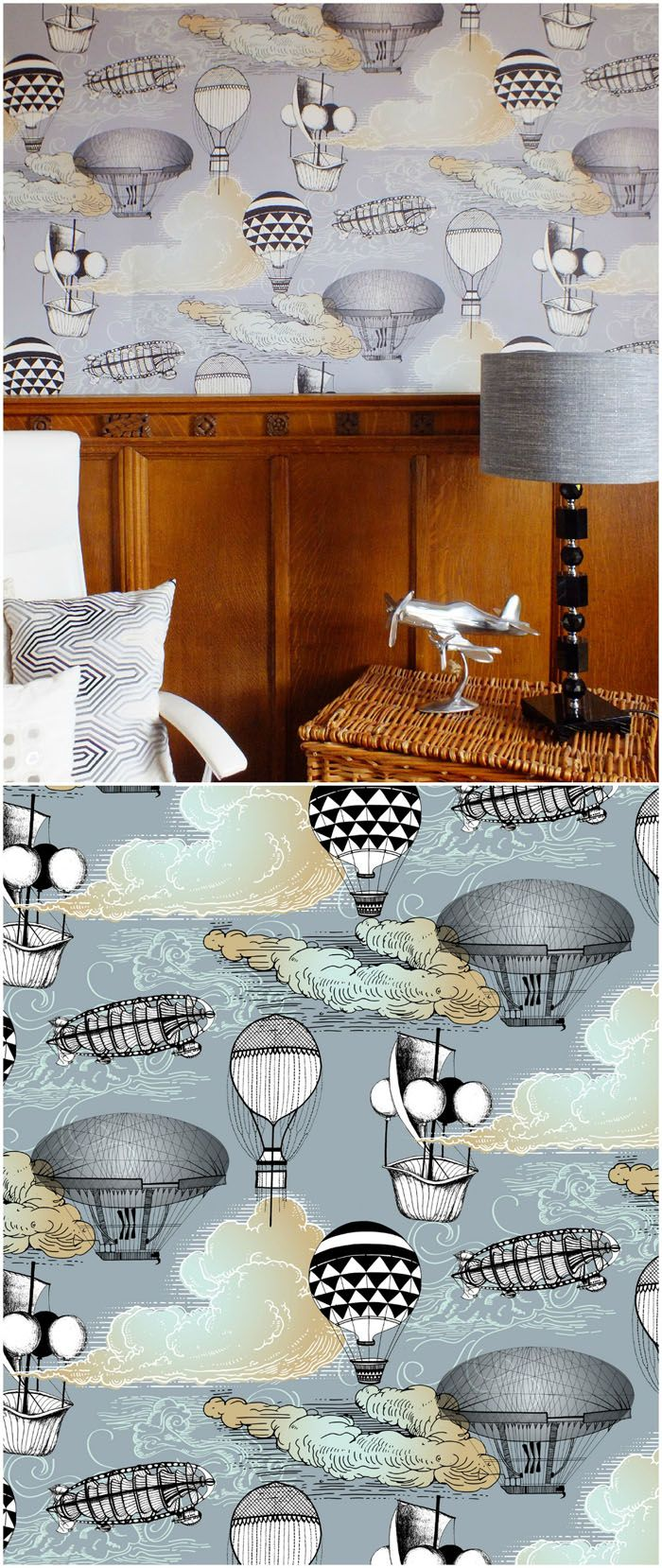 Aeronaut Wallpaper designed by Kate Usher