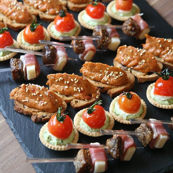 136 best canapes images on pinterest food appetizers for Gourmet canape ideas
