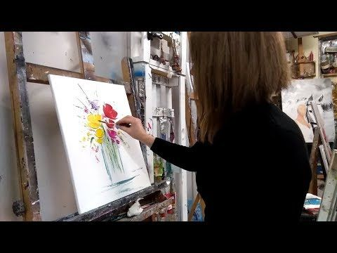 "TUTON PAINTING IN AN EASY KNIFE ""FLOWER BOUQUET"" – YouTube"