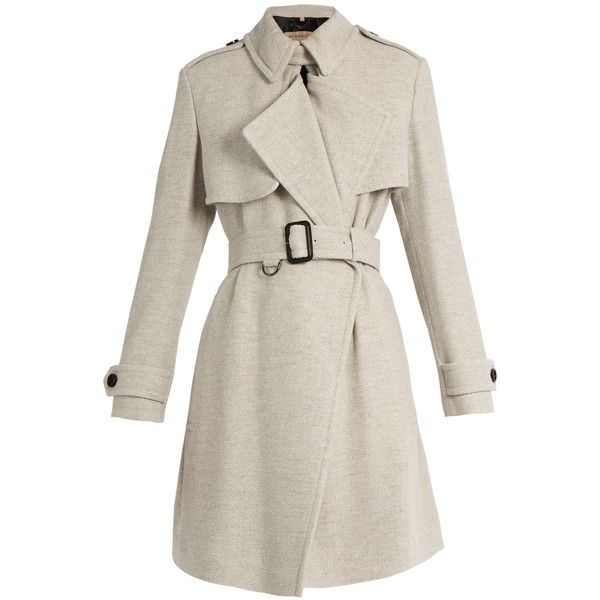 Burberry London Leveson cashmere trench coat