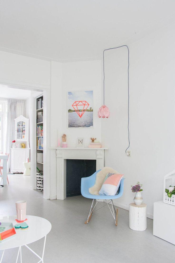 Home Tour: Bright + Cheerful Dutch Row House - decor8