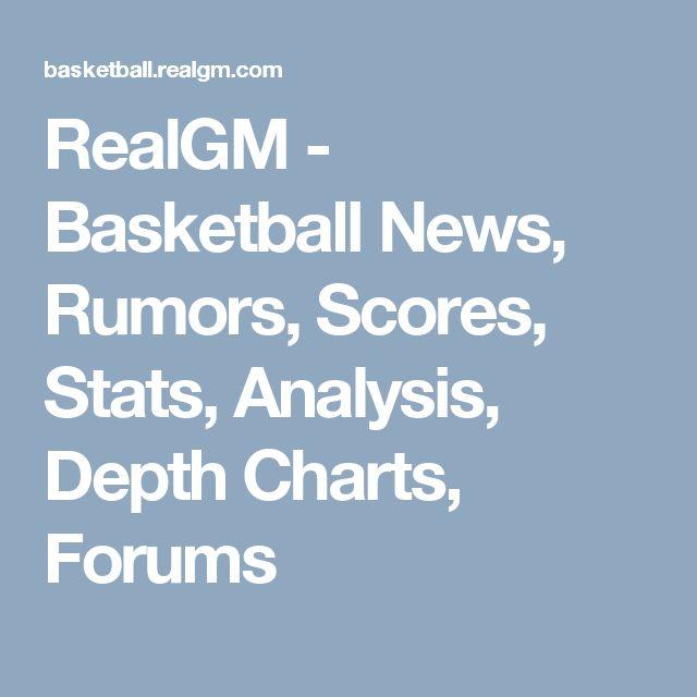 RealGM - Basketball News, Rumors, Scores, Stats, Analysis, Depth Charts, Forums