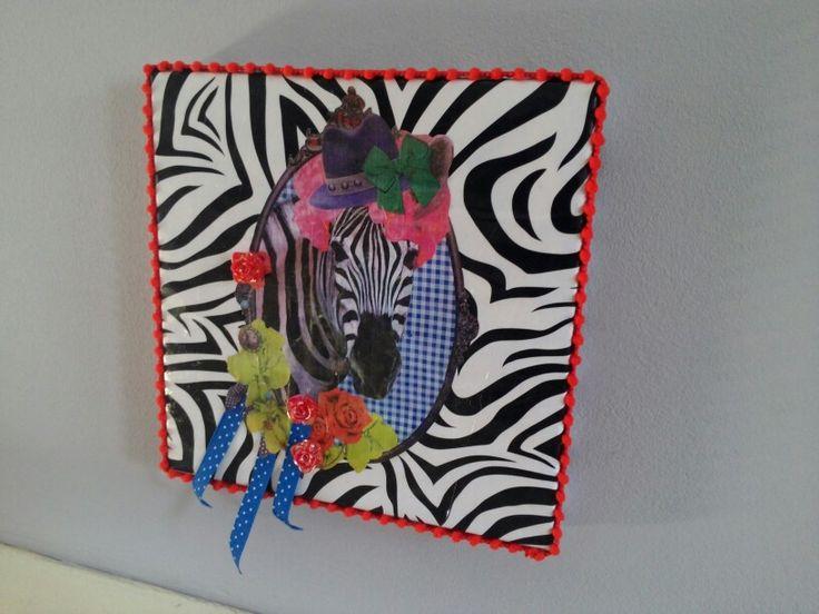 Zebra kunst voor in een kinderkamer