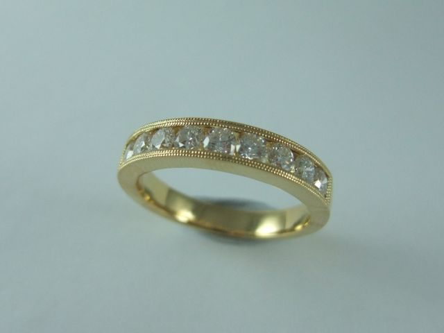 Classical #Diamond #Ring / Channel set in 18ct Yellow #Gold with 9 Brilliant Cut Diamonds. Price: $2750.00