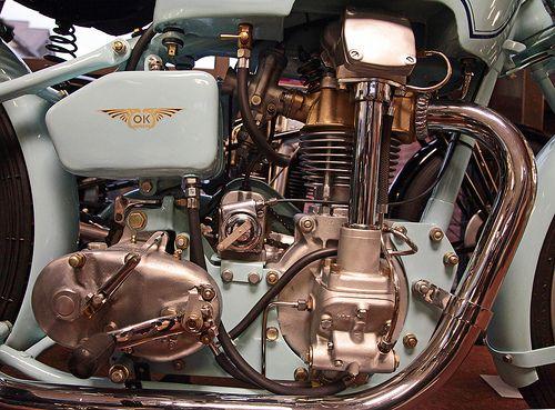 1939 OK Supreme 250cc Overhead Camshaft Racing Bike