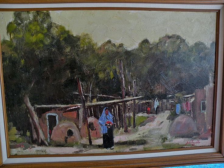 """John Franklin oo/b N. M. Artist """"Strange Light In Taos"""" from therecklessnecklace on Ruby Lane"""