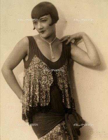 Portrait of the actress Elsa Merlini, with dedication 1926 (c)Miniati, Bruno-Fratelli Alinari Museum Collections-Miniati Donation, Florence