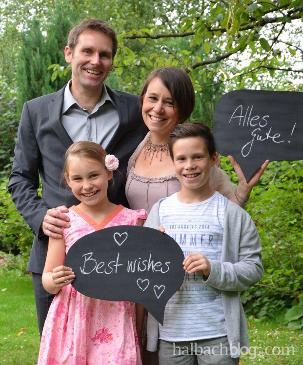 halbachblog I DIY I Hochzeit I Fotoaktion I Sprechblasen aus Holz mit Tafellack