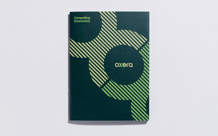 Oxera corporate brochure cover.