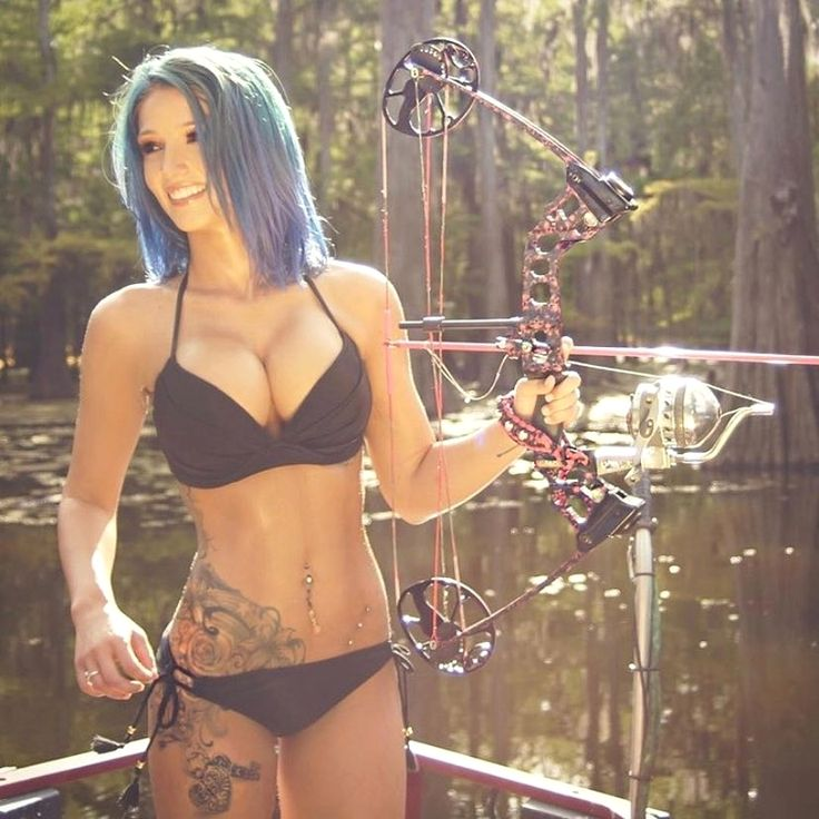 Archery girls naked bow and arrow