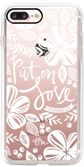 Casetify iPhone 7 Plus Case and other White Christmas iPhone Covers - Put On Love by French Press Mornings   Casetify