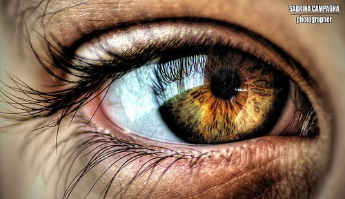 Eye Close-Up - HDR by Sabrina Campagna, via Flickr