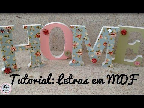 Tutorial: Como fazer a decoração de letras em MDF | Papo de Mamãe Amélia - YouTube