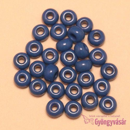 Bársonykék, 7 mm cseh kásagyöngy (10 g) • Gyöngyvásár.hu
