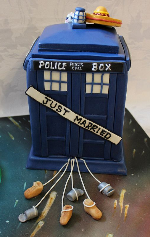 Doctor Who grooms cake!! :-)