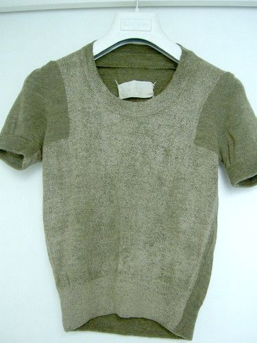 flat garment series: painted knit top • martin margiela